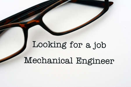 looking for a job: Looking for a job Mechanical Engineer Stock Photo