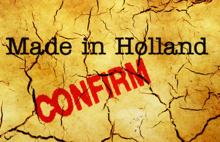 confirm: Made in Holland confirm Stock Photo