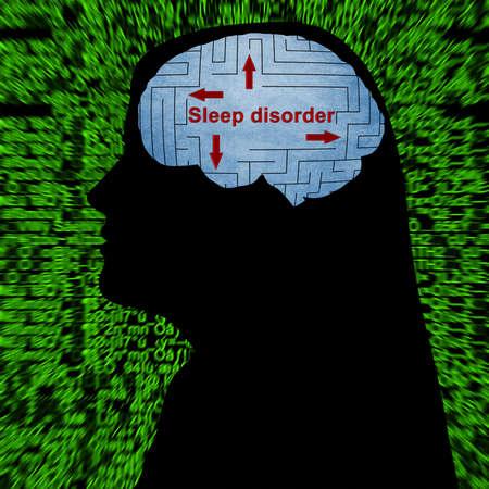 sleeplessness: Sleep disorder in mind Stock Photo