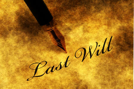 decease: Last will and testatament Stock Photo