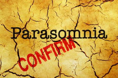 confirm: Parasomnia confirm