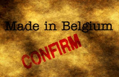 made in belgium: Made in Belgium confirm