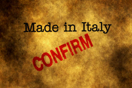 made in italy: Made in Italy confirm Stock Photo