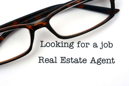 looking for a job: Looking for a job real estate agent Stock Photo