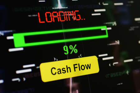 net income: Loading cash flow Stock Photo