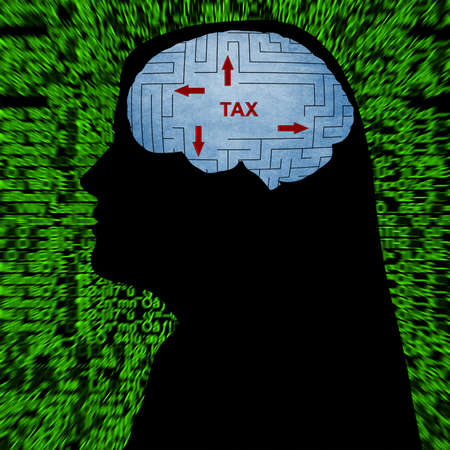 mindfulness: Tax in mind Stock Photo