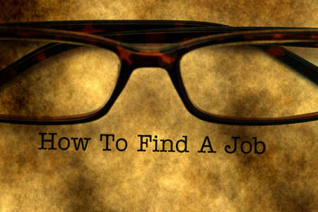 seeker: How to find a job Stock Photo