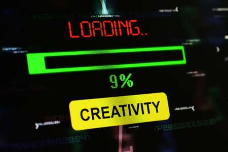 creativity: Loading creativity Stock Photo
