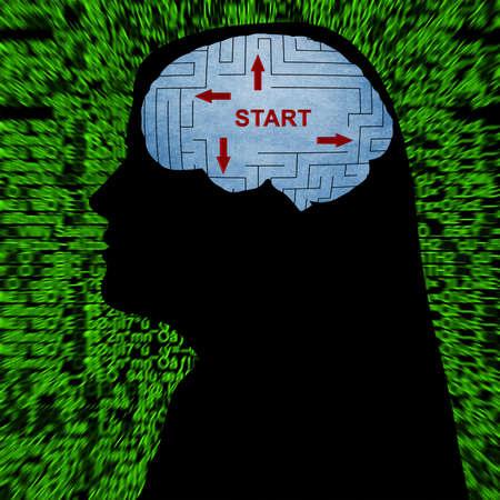 entrepreneurship: Start in mind Stock Photo