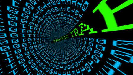 internet traffic: Internet traffic data tunnel