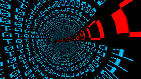 IP address data tunnel Banque d'images