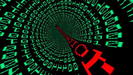 information technology law: Registration data tunnel