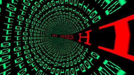 hi speed: Hi speed data tunnel