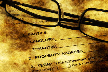 lessee: Residential lease agreement grunge concept