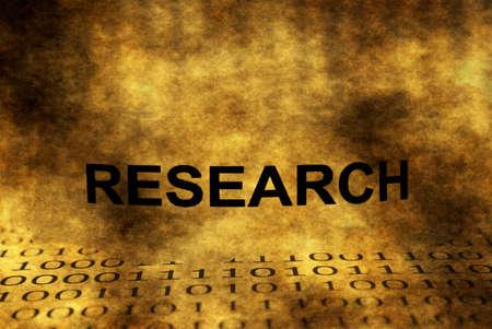reseach: Reseach on binary data grunge concept