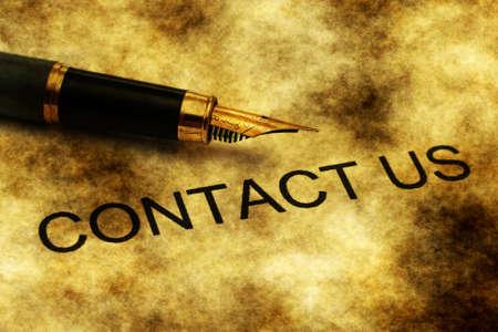 contactus: Fountain pen on contact us text