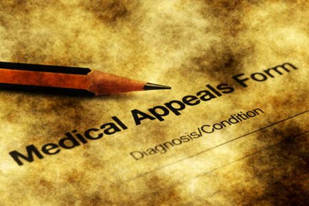 appeals: Medical appeals form grunge concept
