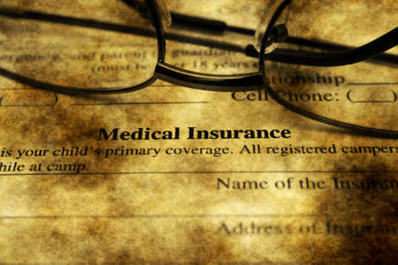 reimbursement: Medical insurance grunge concept Stock Photo
