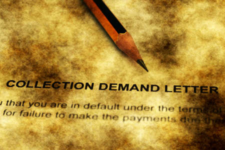 demand: Collection of demand letter grunge concept