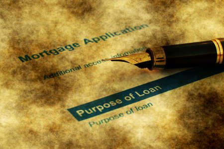 mortgage application: fountain pen on mortgage application