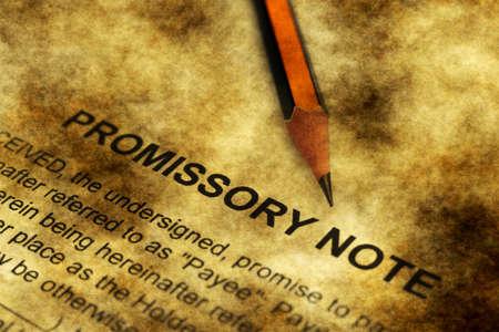 Promissory note grunge concept Standard-Bild