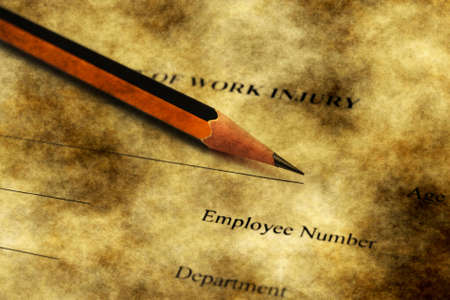 risky job: Report of work injury form