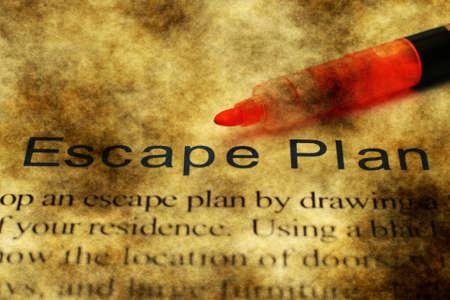 escape: Escape plan grunge concept