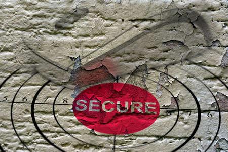 secure: Secure target grunge concept