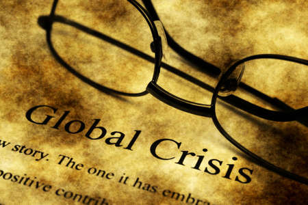 swaps: Global crisis grunge concept Stock Photo