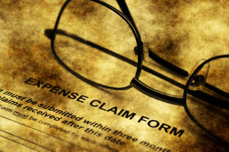 premiums: Expense claim form grunge concept