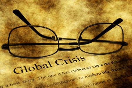 swaps: Global crisis grunge concept Stock Photo