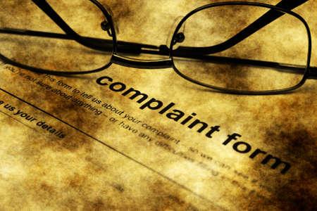 complaint: Complaint form grunge concept