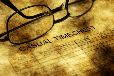 Casual timesheet grunge concept