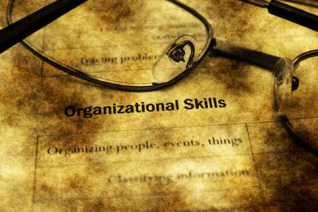 organizational: Employment application organizational skills