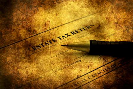 estate: Estate tax return grunge concept Stock Photo