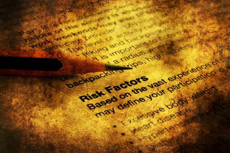 factors: Risk factors grunge concept