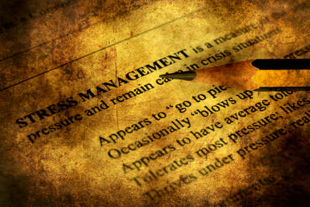 circumstances: Stress management grunge concept
