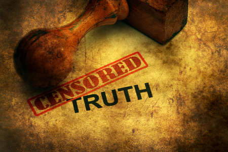 withhold: Censored truth grunge concept