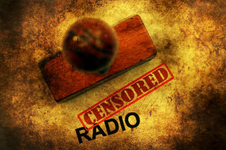 silenced: Censored radio grunge concept