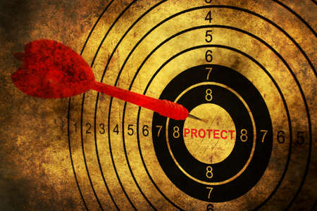 protect: Protect target grunge concept