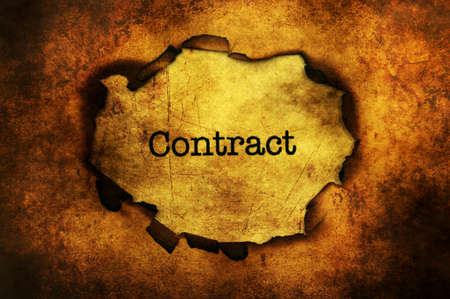 paper hole: Contract paper hole grunge concept Stock Photo