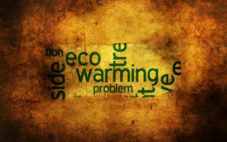 greenpeace: Eco warming grunge concept Stock Photo