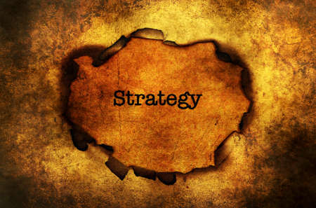 paper hole: Strategy paper hole grunge concept Stock Photo