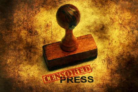 censored: Censored press grunge concept