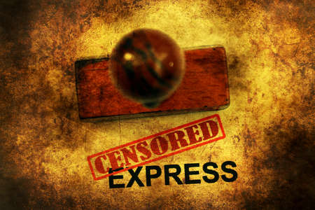 censored: Censored expess grunge concept