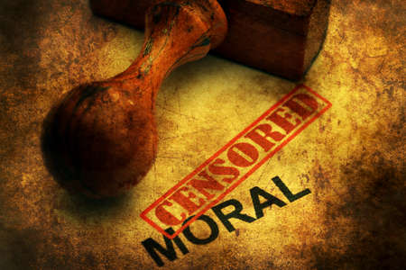 wrongful: Censored moral grunge concept