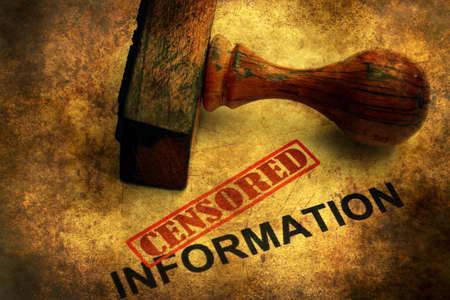 censored: Censored information grunge concept Stock Photo