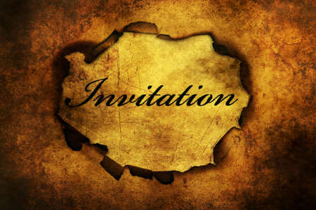 hole: Invitation text on paper hole