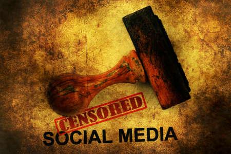 censored: Censored social media grunge concept