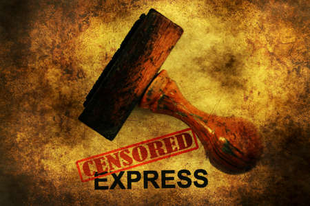 censored: Censored express grunge concept